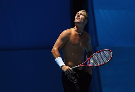 Lleyton Hewitt Shirtless Practice Sydney 4