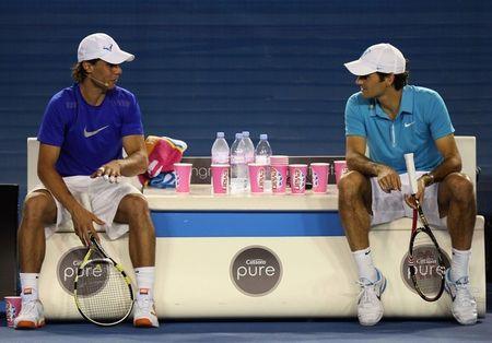 14 Roger and Rafa on Bench