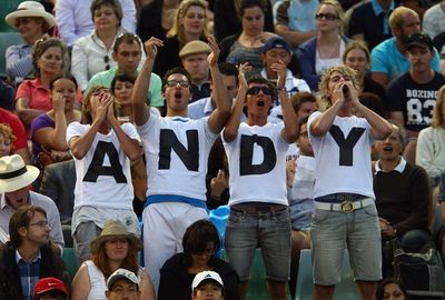 Andy Murray 2nd R AO10 Win Fans