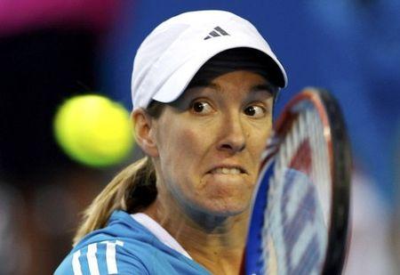 Funny Face Jan 24 Justine Henin