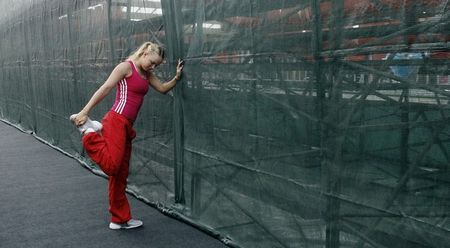 Carloine Wozniacki Fed Cup QF r 1
