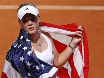 Melanie Oudin FedCup Win Feb.10 ap