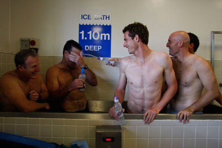 Andy Murray and Team Ice Bath