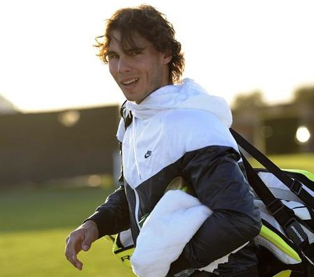 Rafael Nadal IW Practice Mar 9 2 epa
