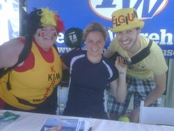 Kim Clijsters with Belgian Fans IW.10