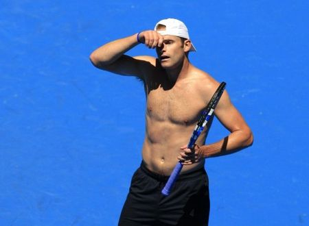 andy roddick shirtless. Andy Roddick Aussie Practice