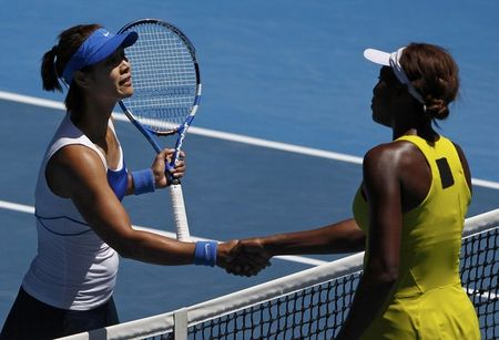 Li Na with Venus AO10 QF Win r