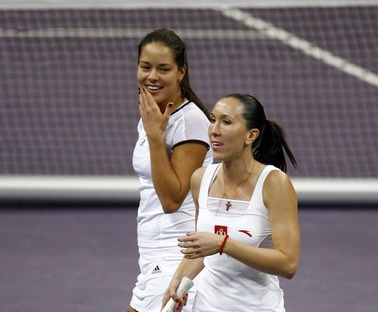 Ana Ivanovic and Jelena Jankvoc Fed Cup Loss
