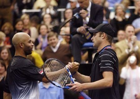 Andy Roddick and James Blake 2nd R Memphis ap