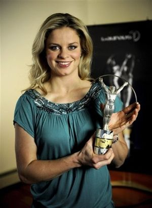 Kim Clijsters Laureus Award 2010 ap