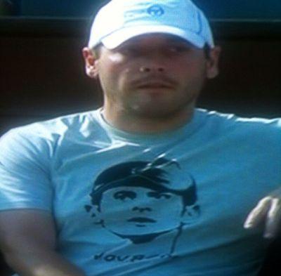 Novak Djokovic Tshirt on Physio Monte Carlo.10