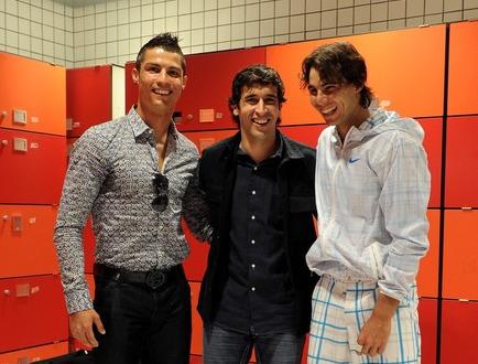 Rafael Nadal Cristiano Ronaldo Raul Gonzalez Madrid.10 2 g