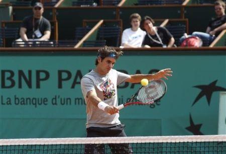 Roger Federer Practice RG.10 ap