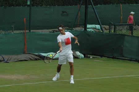 Roger Federer Practice June 18 Wimbledon.10 1 fb