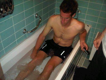 Andy Murray Ice Bath Wimbledon.10