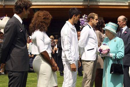3 Novak Djokoivc Chats with Queen