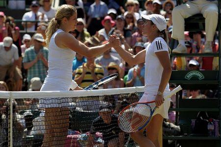 Kim Clijsters Justine Henin 4th R Match Wimbledon.10 g