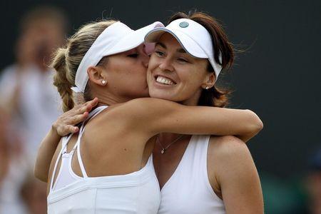 Anna Kournikova Martina Hingis Wimbledon.10 2 g