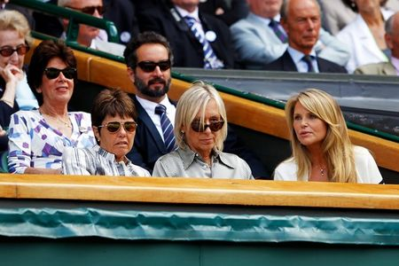 Martina Navratilova Christie Brinkley Wimbledon.10 g