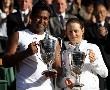 Leander Paes Cara Black Win Mixed Wimbledon.10 g