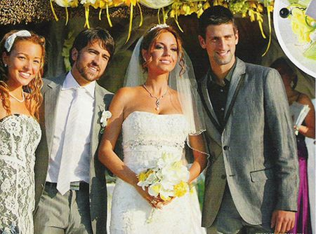 Janko Tipsarevic Wedding 3 w Novak