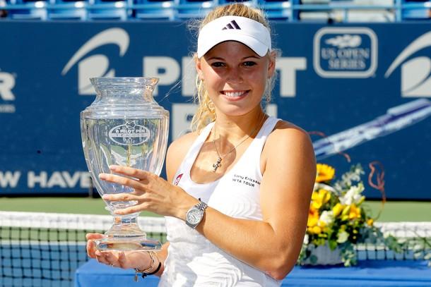 Caroline Wozniacki Wins New Haven.10 g