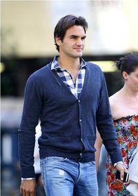 Roger Federer and Mirka Sroll NYC 2