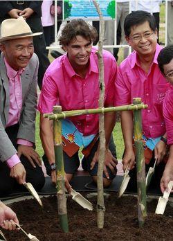 Rafael Nadal Bangkok.10 Tree Planting 1 r