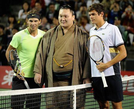 Rafael Nadal Tokyo.10 Sumo Champ Hakuho Coin Toss g