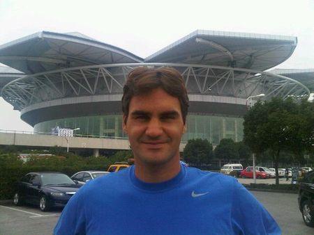Roger Federer Shanghai.10 Practice Fb