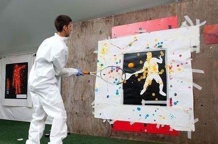 Novak Djokovic London.10 Paintball 2 chris cone