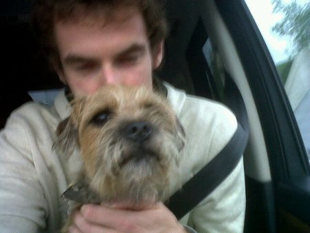 Andy Murray with Dog tw