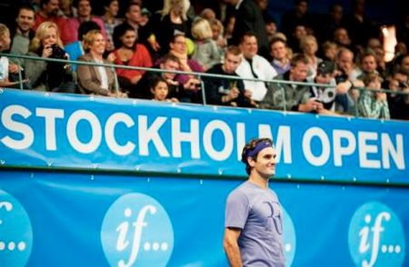Roger Federer Stockholm.10 Practice fb