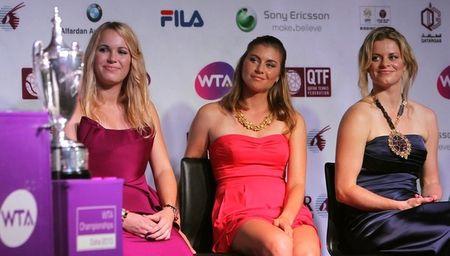 Kim Clijsters Caroline Wozniacki Vera Zvonareva Doha.10 g