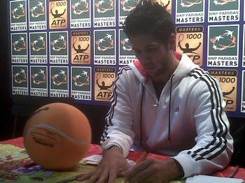 Fernando Verdasco Paris.10 Autograph Signing