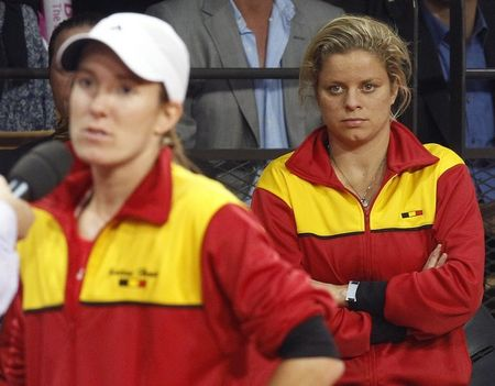 Kim Clijsters Justine Henin Fed Cup.10 r