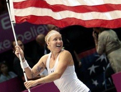 Bethanie Mattek Fed Cup Win.10 ap