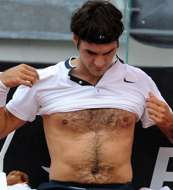 Image result for roger federer shirtless