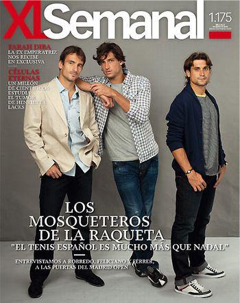 David Ferrer Tommy Robredo Feliciano Lopez XL Semanal Mag