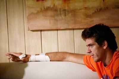 Juan Martin Del Potro Wrist Cast