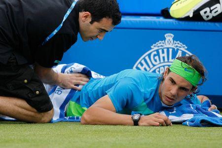 Rafael Nadal Injury at Queens Club.10