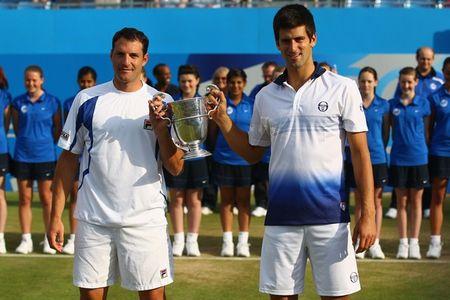 Novak Djokovic Wins Doubles Queens Club.10 2 g