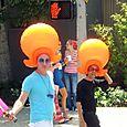 21 Orange Plastic Hair