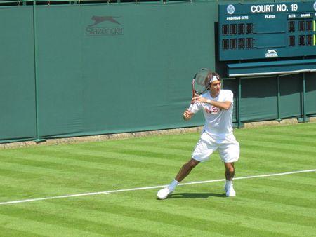 Roger Federer Practices Wimbledon.10 2 fb