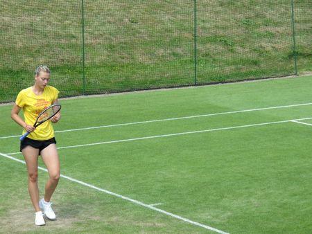 Maria Sharapova Practices Wimbledon.10 1 fb