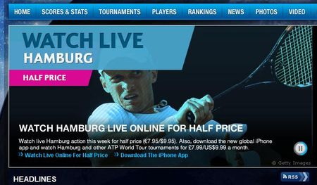 ATP Hamburg Stream Half Price