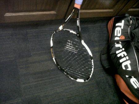 Janko Tipsarevic Broken Racket LA.10