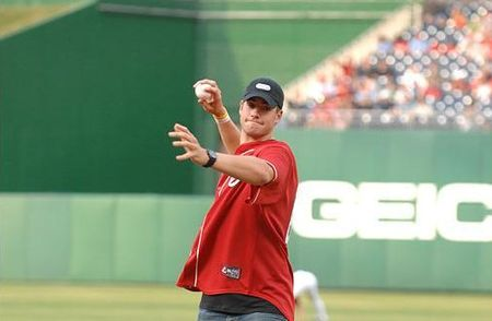 John Isner 1st Pitch Nationals DC.10