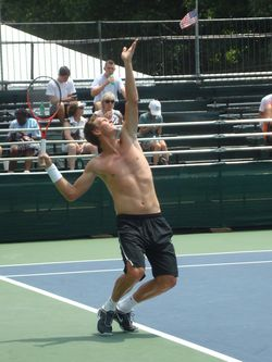Tomas Berdych Shirtless Practice DC.10 2