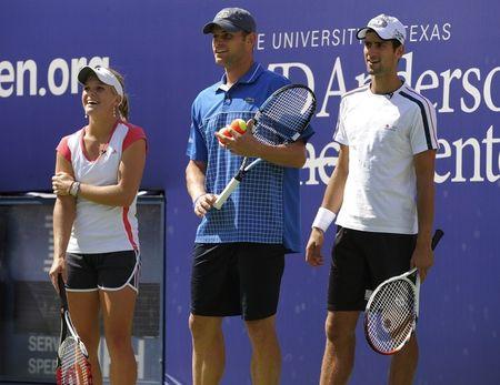 Andy Roddick Novak Djokovic Melanie Oudin Ashe Day USO.10 g